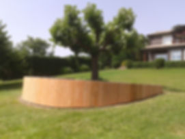 Habillage bois d'un massif