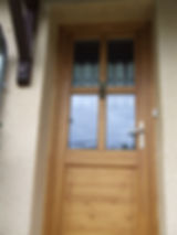 porte d'entrée en pin