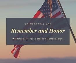 Wishing all of you a blessed Memorial Da