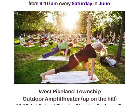Yoga in the Park in June