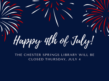 Library will be closed July 4