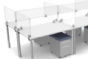 Plexiglass dividers