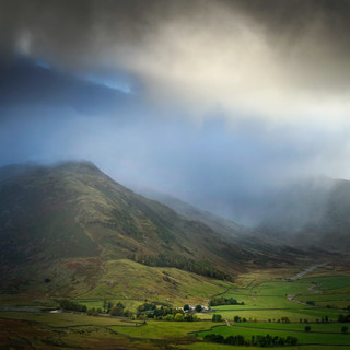 Passing shower, Great Langdale