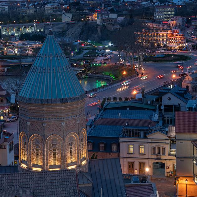 Tbilisi dusk