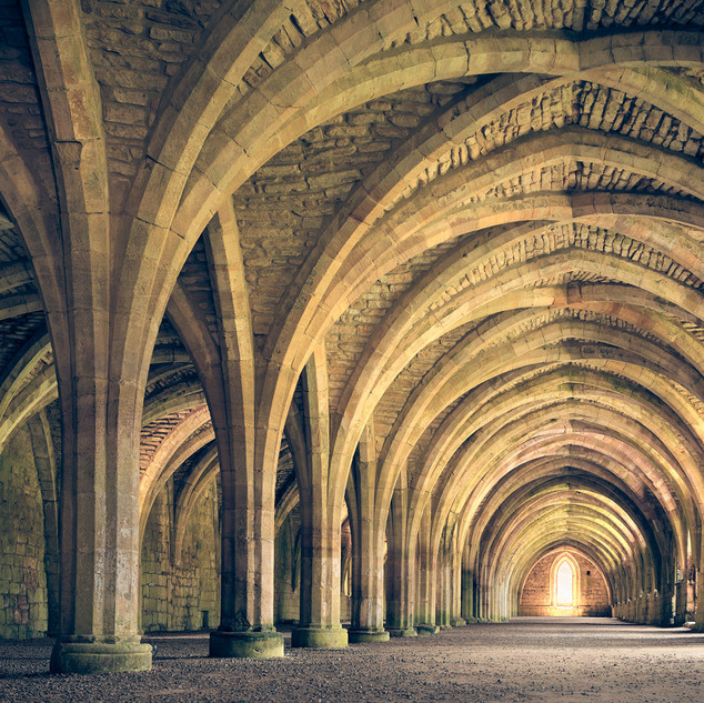 Fountains Abbey undercroft