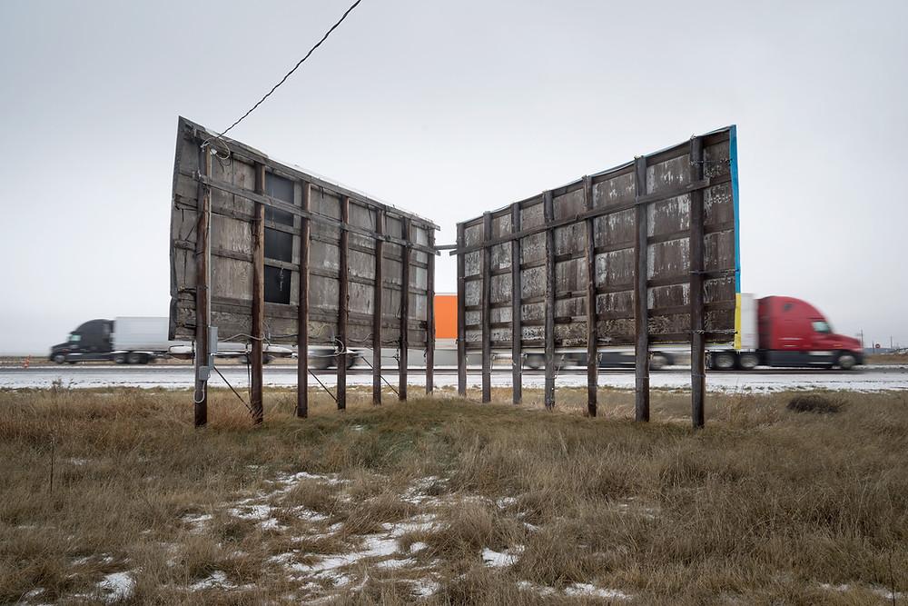 Billboards along Interstate 40, Adrian TX
