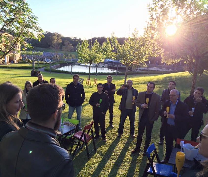 Recepção da turma no Wine Garden