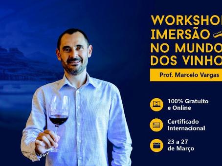 LOTADO - Workshop gratuito - Imersão no Mundo dos Vinhos