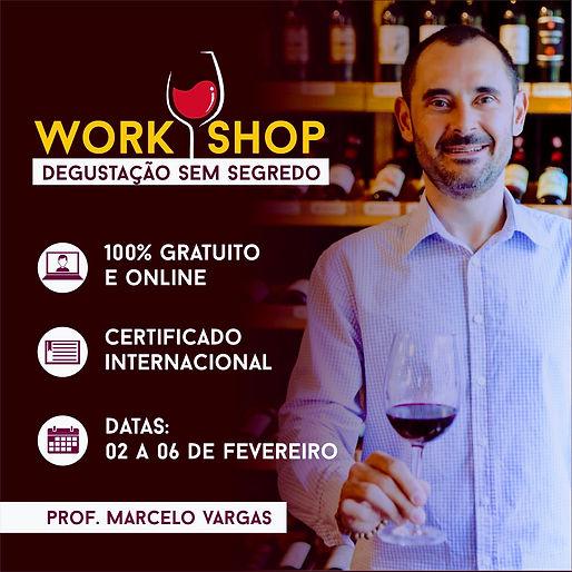 Redes sociais 01 - WorkShop - Degustação