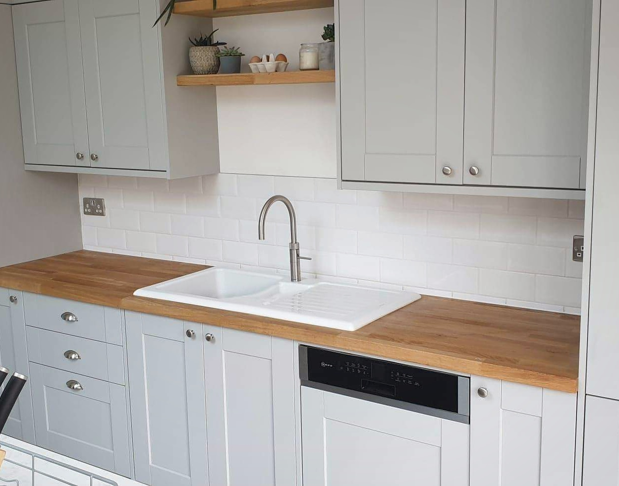 White Metro Tile Splashback