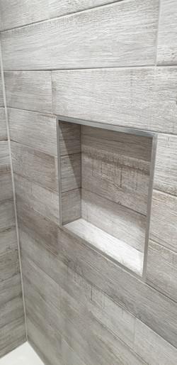 Wood Effect Tiled Niche