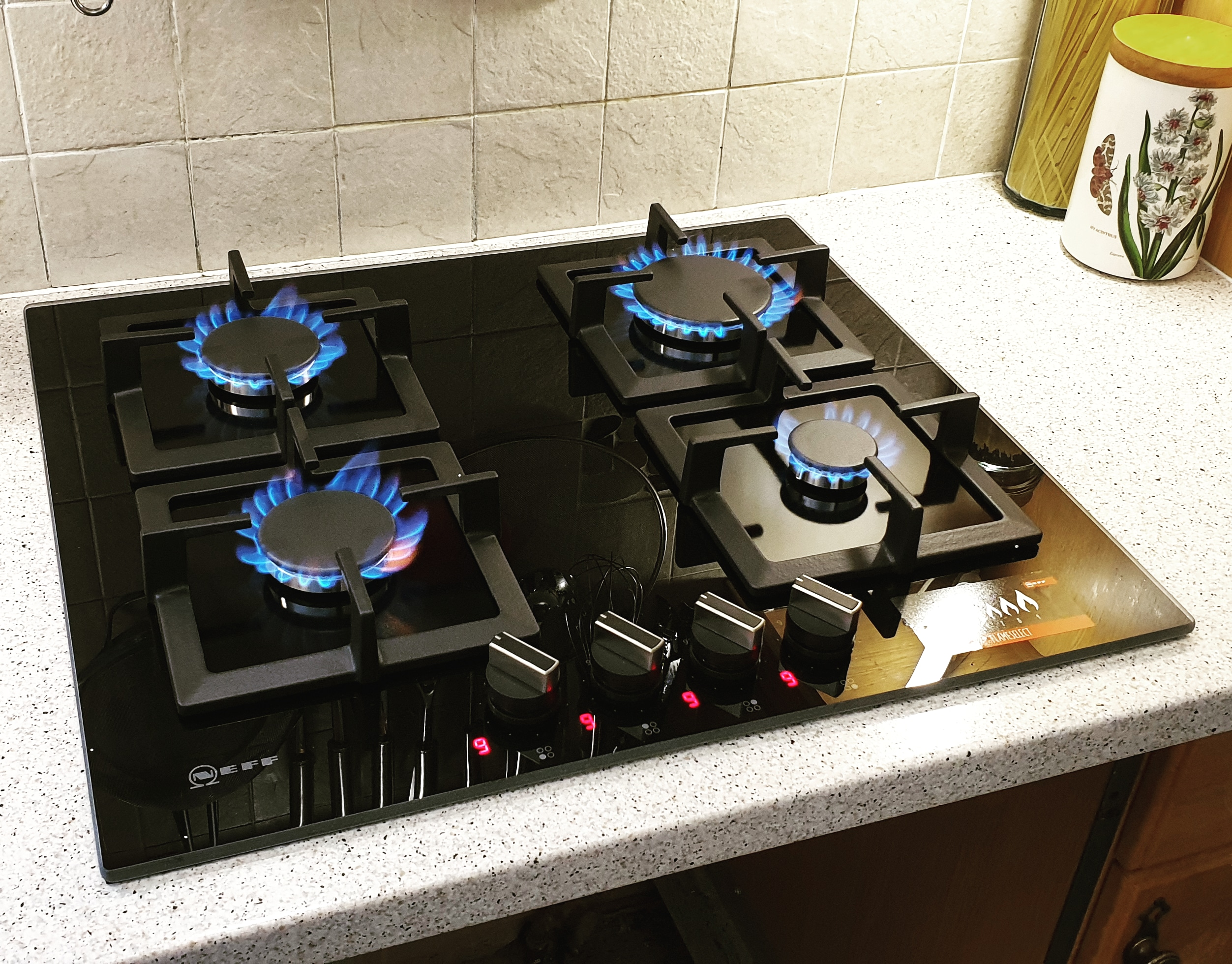 Neff Black Glass Hob