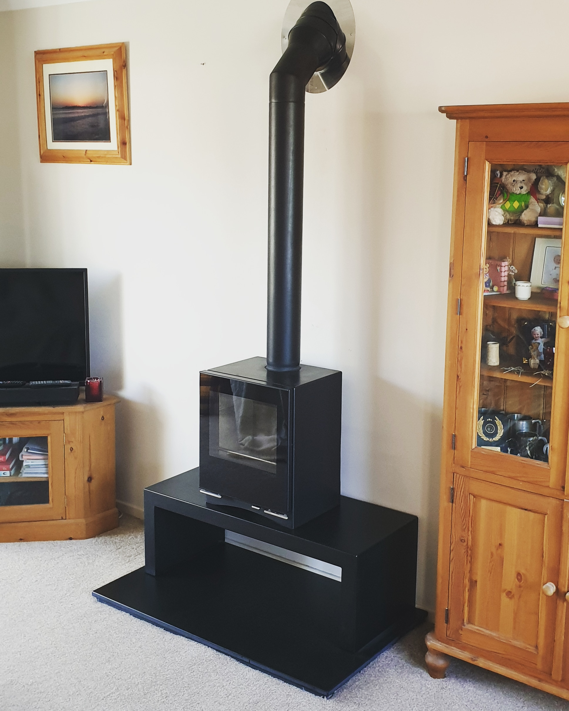 Stovax Bench Twin Wall Flue Install