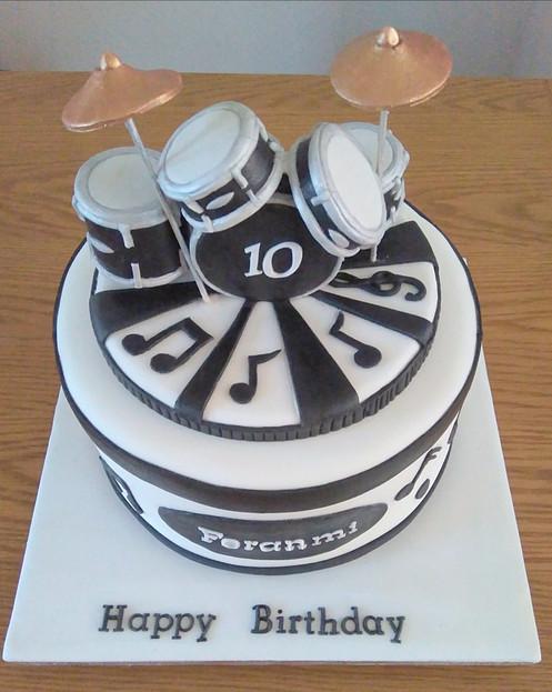 Drum Kit Birthday Cake
