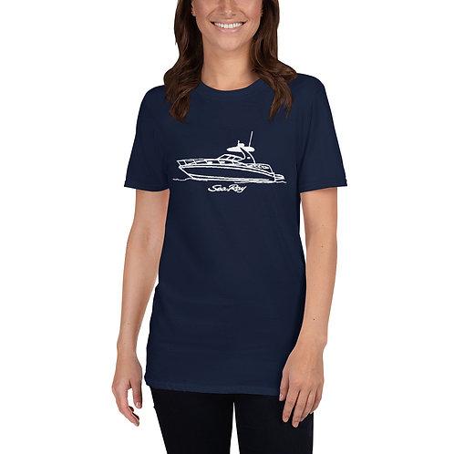Sea Ray 320 Line Drawing Short-Sleeve Unisex T-Shirt
