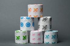 Traditional Toilet Paper Rolls