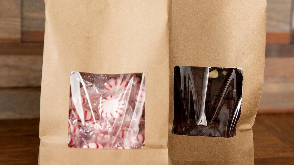 4.75 x 2.5 x 9.5 Kraft Windowed Coffee Bag