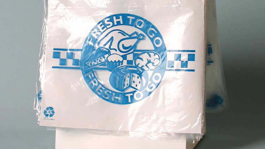 "10 x 8 1.5 MIL Seal Top Saddle Pack Printed ""Fresh to Go"" Four Colors"