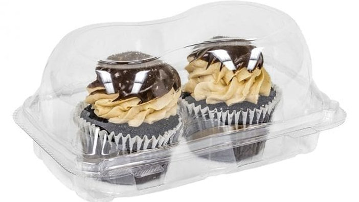 2-Count Jumbo Cupcake Container