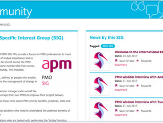 APM PMO SIG wisdom interview on tailoring PMO to companies.