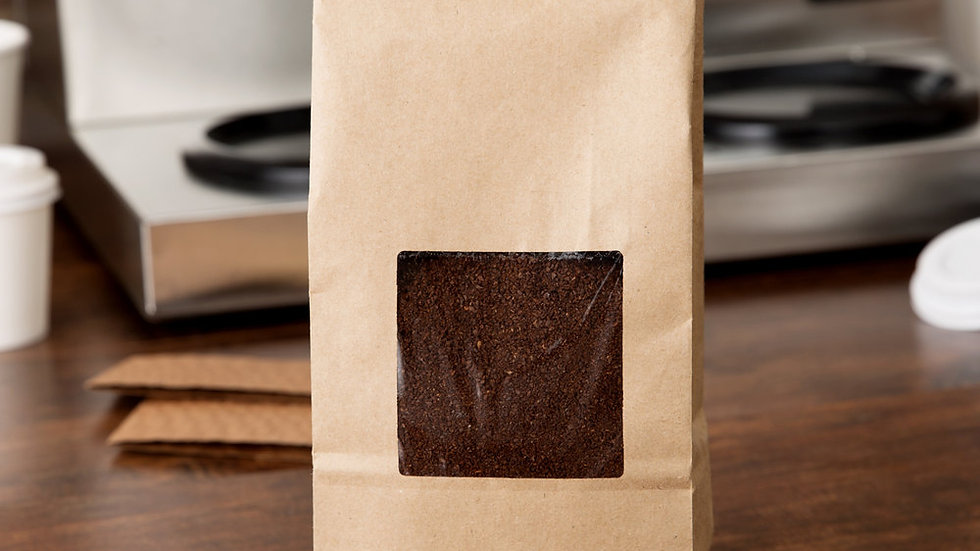 4.25 x 2.25 x 10.5 (1 lb.) Kraft Coffee Bag