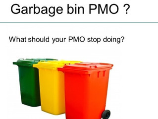 How to avoid becoming a garbage bin PMO.