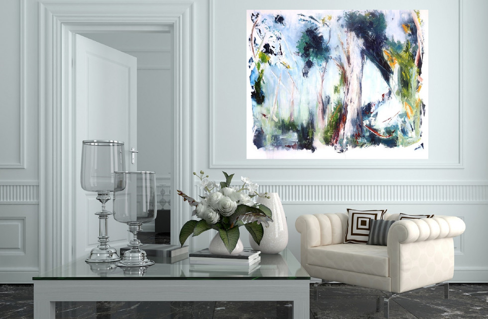 """Mother Tree oil on canvas 91x122cm 36x48""""in $1400.00"""