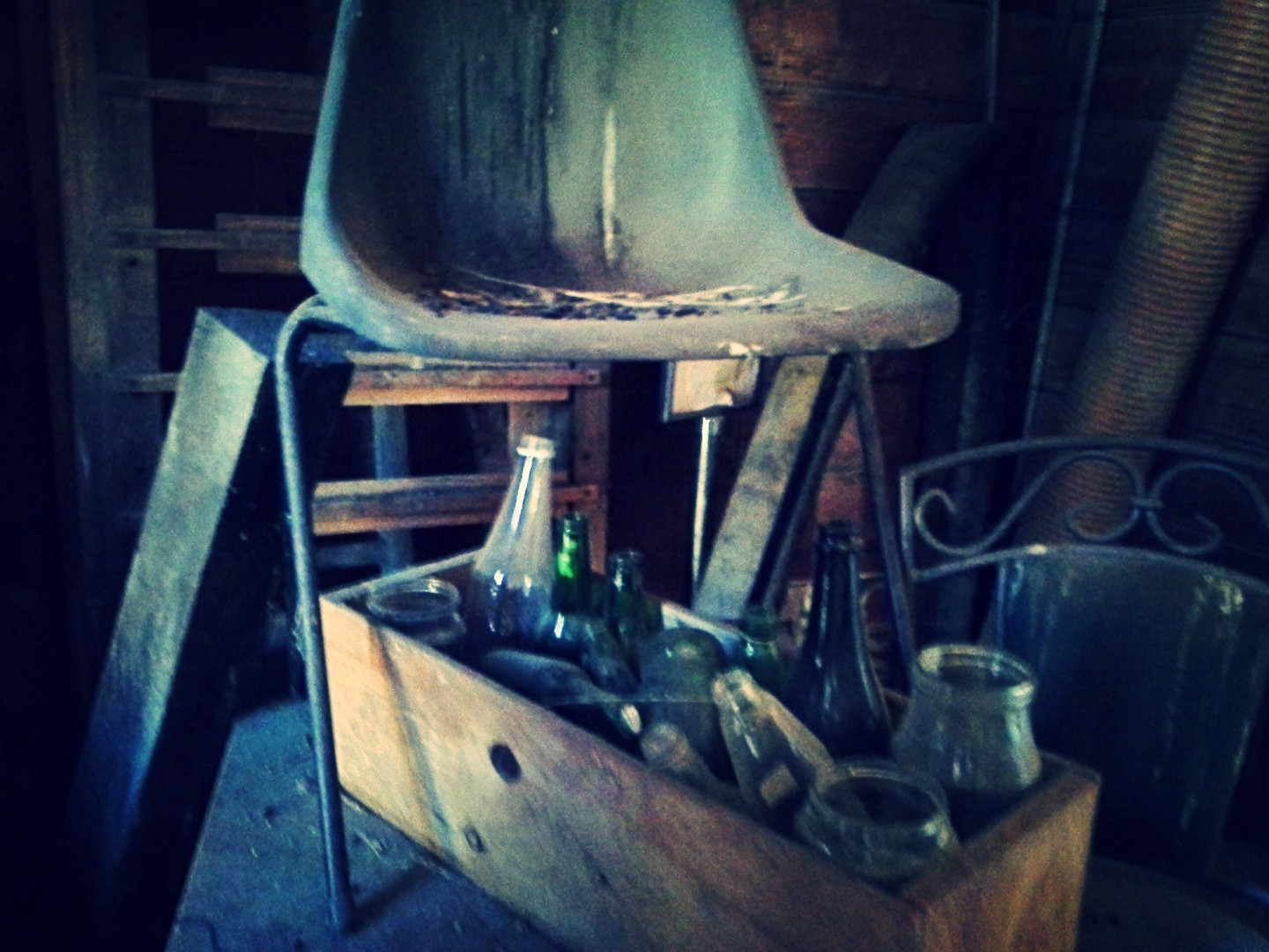 Chair with Bottles