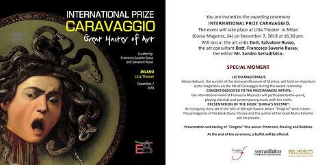 Invitation International Prize Caravaggi