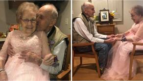 Alzheimer: Idosa com demência reconhece marido durante festa de 72 anos de casados