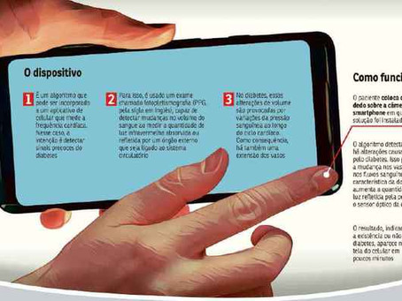 Diabetes: aplicativo permitirá detecção em leitor de digitais do celular