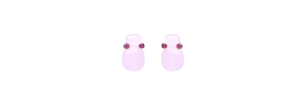 Earrings Squeezed Quartz