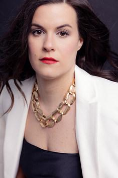 headshot-woman-white-blazer-red-lips-bos