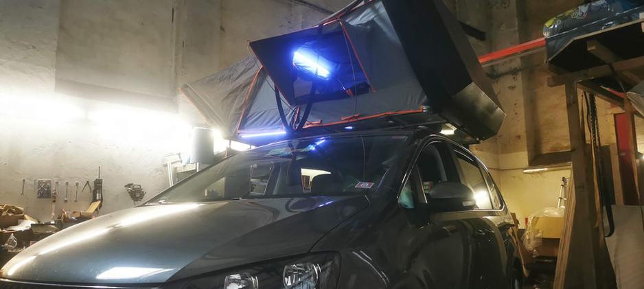 Probeaufbau der Beleuchtung