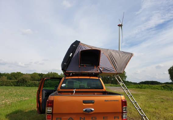Kleine Kiste - großes Zelt