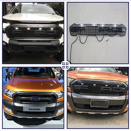 Für Ford Ranger Wildtrak Raptor-look Grill mit LEDs