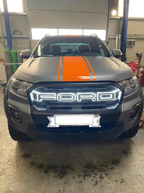Für Ford Ranger T8 passender Raptor-Look-Grill m LEDs