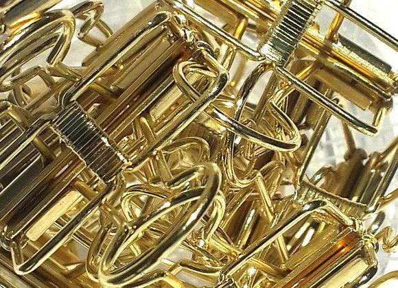 GOLD BINDER CLIPS - set of 5