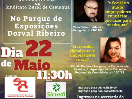 REUNIÃO ALMOÇO DO SINDICATO RURAL DE CAMAQUÃ