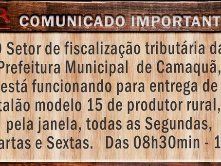 Divulgada a rotina de atendimento do Setor de Fiscalização Tributária da Prefeitura de Camaquã