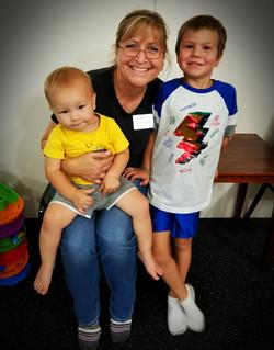 Christina with grandkids