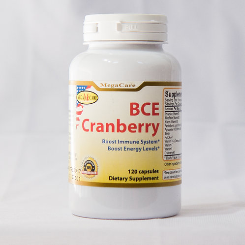 BCECranberry, 120 capsules/bottle