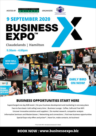 Check out our poster for the 2020 Waikato Business Expo