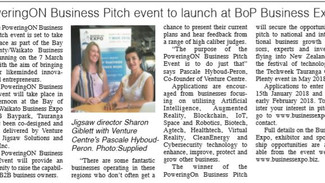 PoweringON Business Pitch event to launch at BoP Business Expo