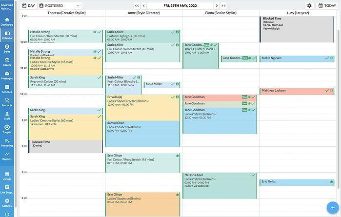 Bookwell Calendar Software Busy Hair Sal