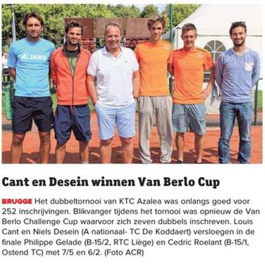 Cant en Desein winnen Van Berlo Cup