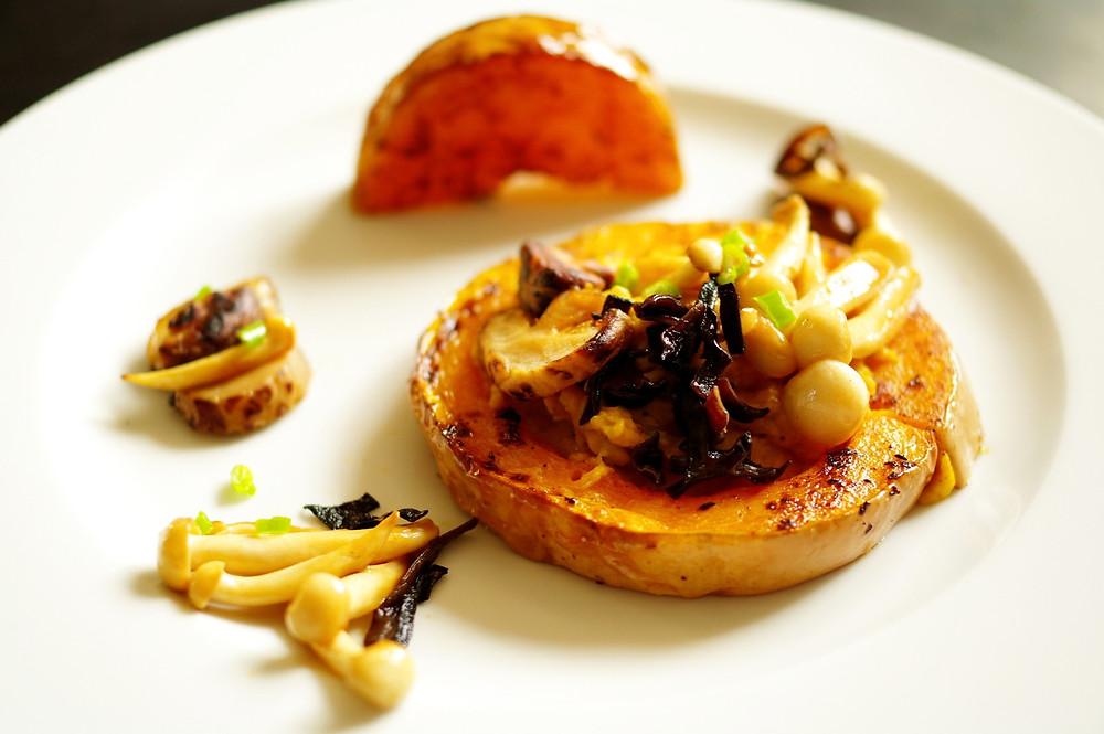 butternut confit tahini champignons d'Asie fusion homemaid