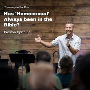 Preston Sprinkle | 'Homosexual' in the Bible