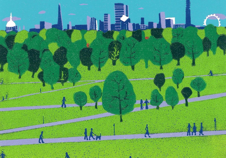 (Jennie Ing) Primrose Hill The View reduction linocut £185.jpg