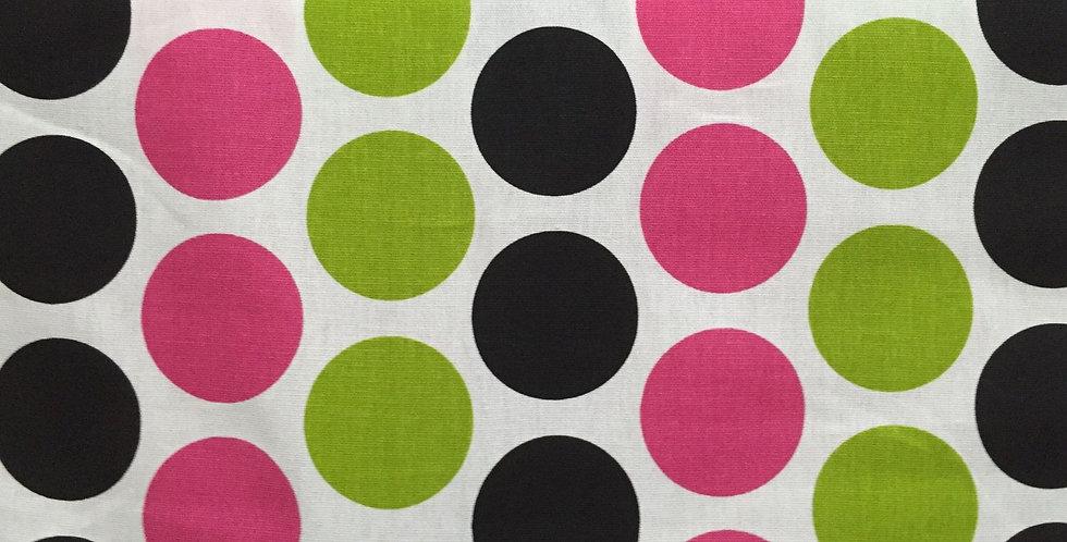 Pink - Black - Green - Large Dots